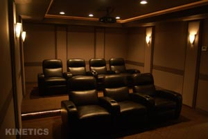 home theater acoustic design.  HardSide Acoustical Wall Panels